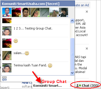 Facebook Chat Group